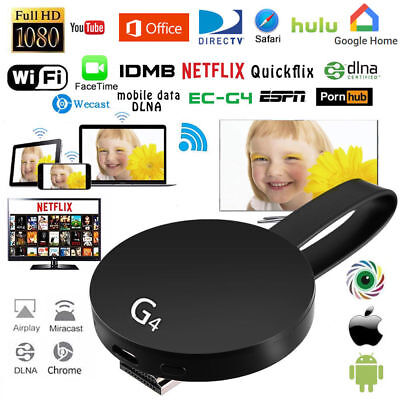 Wireless Google Chromecast 2.Generation G4 WIFI HDMI Dongle 1080P TV Android/IOS