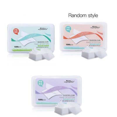 1000PCS/Box Ultra Thin Facial Makeup Cotton Wipes Face Cleansing Puff Pads EP