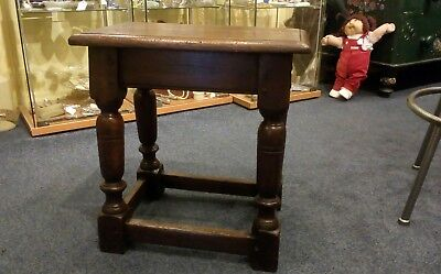 Oak Joint Stool antique Victorian good colour patina