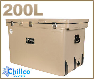 200L Chillco Ice Box Cooler Chilly Bin Superior Ice Retention - Rrp $680