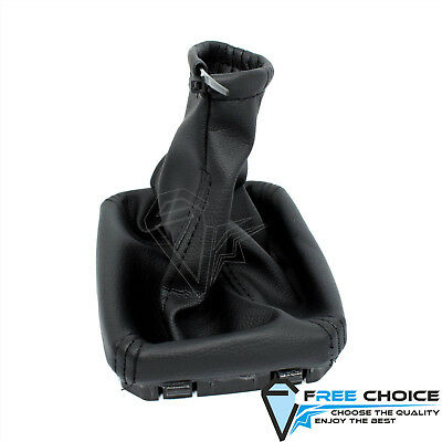 BLACK LEATHER SHIFT GEAR STICK COVER for OPEL VAUXHALL CORSA C