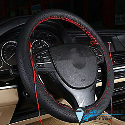 Soft PU Leather DIY With Needles and Thread Car Steering Wheel Cover For 37-39cm