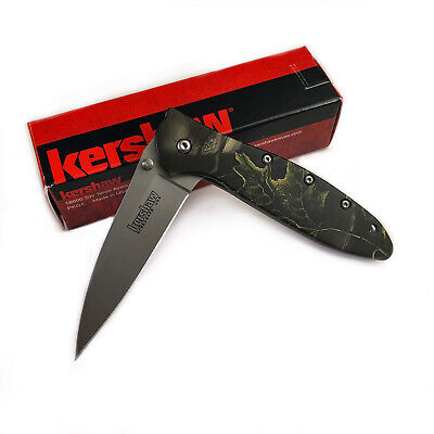 Kershaw 1660CAMO Leek Camo Aluminum Handle 14C28N Assisted Open Folding Knife