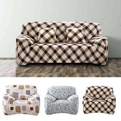 Stretch Elastic Soft Couch Cover Recliner Sofa 3 Style Slipcover 1 2 3 Seater UK