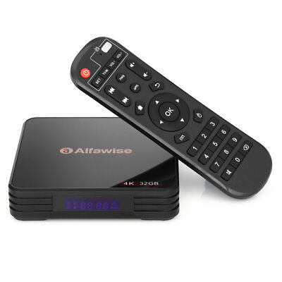 Alfawise A5X TV Box 4K Player RK3328 Android8.1 Quad Core 4GB+32GB H.265 WiFi BT