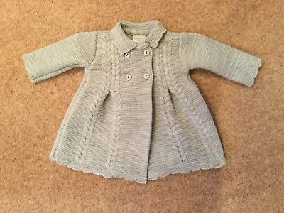 BABY GIRLS GREY KNITTED CARDIGAN BY PEX 6 - 9 or 9 - 12 MONTHS BNWT
