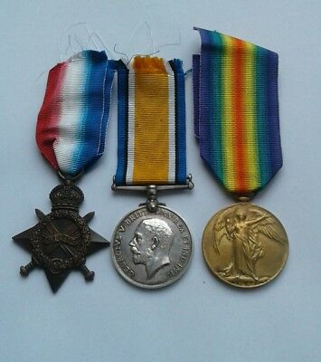 WW1 Medal Trio 1914-15 Star British War Victory Medal World War One To Hodges