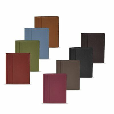 Manzoni 8 Piece Leather Card Holder Pack - W763PackOf8