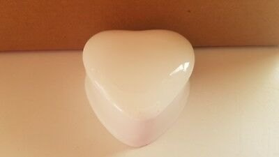 "Brand New White Bone China 2""Heart Trinket Boxes Box Of 40 Made In The Potteries"