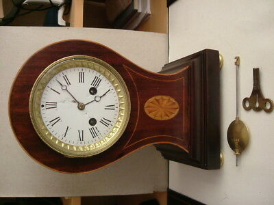 Large Antique French Ballon Mantel Clock for Repair.