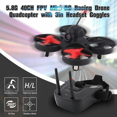 5.8G 40CH FPV Camera Mini RC Racing Drone Quadcopter with 3in Headset Goggles WY
