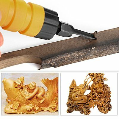 Electric Chisel Carving Tool Wood Carving Machine Woodworking Small Spanner LJ