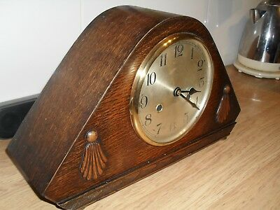 1930's 'ART DECO' MANTLE CLOCK (CONVERTED)