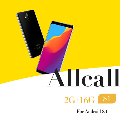 AllCall 5.5''Ultrathin Android8.1 Quad Core 2G+16GWiFi Bluetooth Smartphone IA
