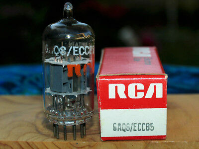 RCA UK ECC85 6AQ8 one very strong matched grey plate twin triode NIB NOS tube
