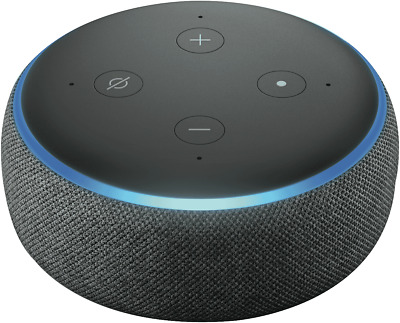NEW Amazon B0792KRW2J Echo Dot (3rd Gen) Voice Assistant With Alexa - Charcoal
