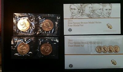 2011 First Spouse Bronze Four-Medal Set - VERY NICE SET