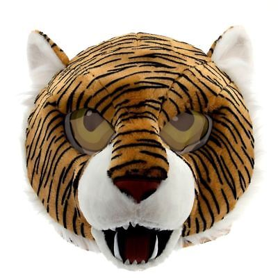 Maskimals School Mascot Tiger Plush Head Mask Costume Party Halloween Adult