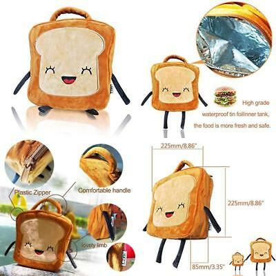 Czyy Insulated Lunch Bag Tote Cute Toast Design, Washable And Freezable Best Sch