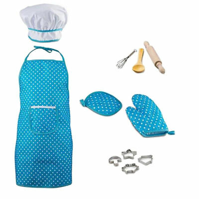 11pcs Cooking Baking Cake Mold Tool Apron Kit Kids Pretend Role Play Child Toys