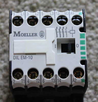 DILEM-10 Moeller 4 Pole N/O Contactor 4 KW at 415 VAC 110 VAC Coil 50/60 Hz