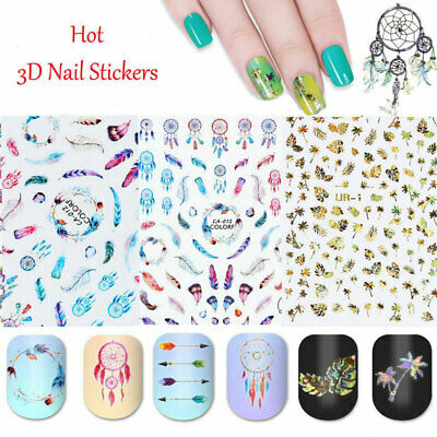 Pegatinas de Uñas 3D Calcomanías Nail Stickers 3D Decals Nail Art Dream Catcher