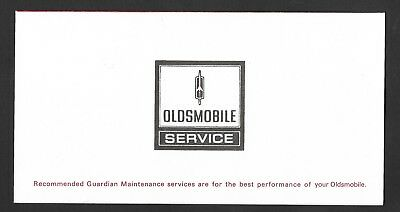 1973 Oldsmobile Maintenance Service Schedule - for 4 - 8 and Twelve Months