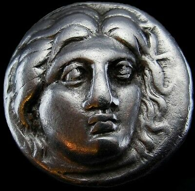 Ancient Coin Greek Didrachm Of Rhodes With Head Of Helios 305-275-Bc (Ac025)