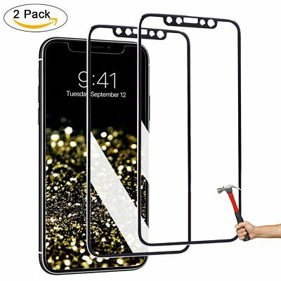 2 Pcs 3D Full Cover Tempered Glass Screen Protector For Apple iPhoneXSV