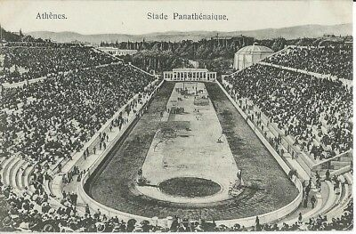 Olympic Games, Athens 1896, The Stadium, Black & White Postcard Issued Pre-1910