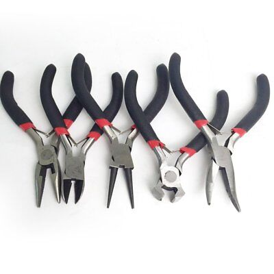 5pcs DIY Jewelry Making Pliers Set Beading Wire Wrapping Round Long Bent Tool LB