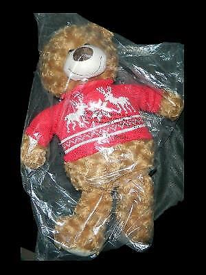 "New Avon 2015 18"" Plush Teddy Bear Red Holiday Sweater Christmas"