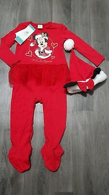 aab1ce6ca BABY GIRLS DISNEY CHRISTMAS OUTFIT 9-12 Months MINNIE MOUSE,RED,SET ...