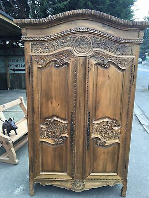 Stunning French Wardrobe Armoire Antique