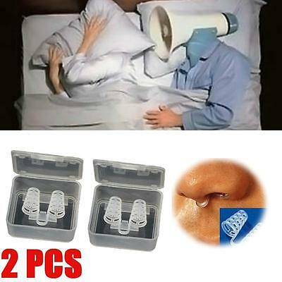 2x Stop Snoring Cones Breathe Easy Congestion Aid Anti Snore Nasal Dilator DS