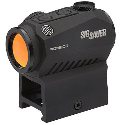 Sig Sauer Romeo 5 Compact Red Dot Sight 1x20mm, 2 MOA Red Dot Reticle, Graphite