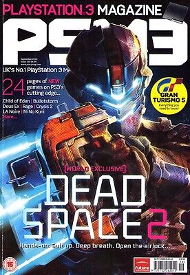 PSM3 Playstation Gaming Magazine Sep 2010 DEAD SPACE 2 OUT OF THIS WORLD