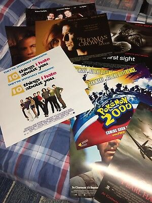 Cinema Small Quad Poster Collection Approx 30 Inc Duplicates Late 90s