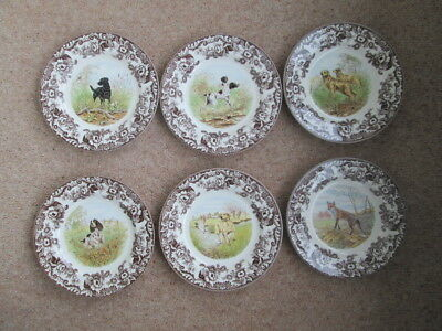 Spode Woodland Dinner Plates Hunting Dogs And Fox