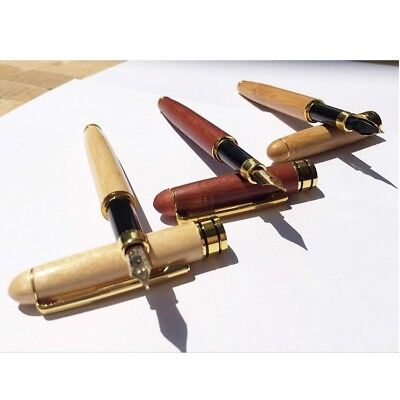 Bamboo Calligraphy Art Fountain Pen Broad Stub Chisel-pointed Nib Writing