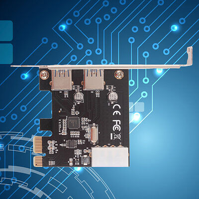 PCI-Express PCI-E to USB 3.0 2Port PC Expansion Adapter Card For Vista Win 7#SG