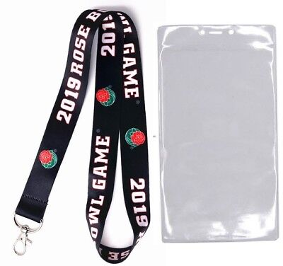 2019 Rose Bowl Ohio State Buckeyes Washington Huskies Lanyard / Ticket Holder