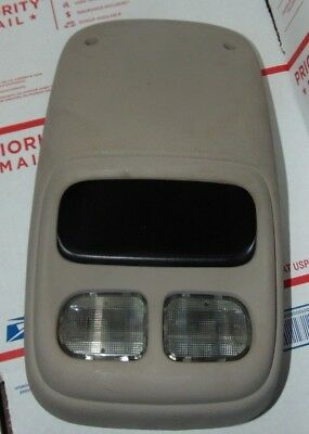 94 - 98 Dodge Ram 1500 2500 3500 Overhead Console Storage And Map Lights Beige