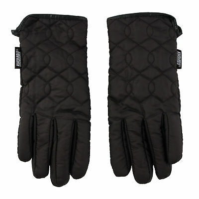 Khombu Womens  Quilted Commuter Gloves with Touch Fingers and Cozy Lining