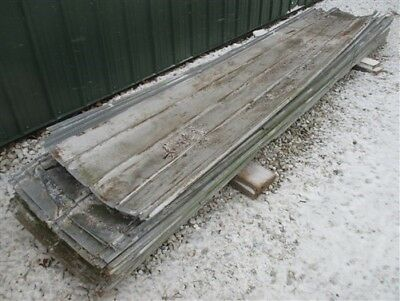 31 Sheets Barn Tin Corrugated 672 sq ft Architectural Salvage 10' to 11' Long