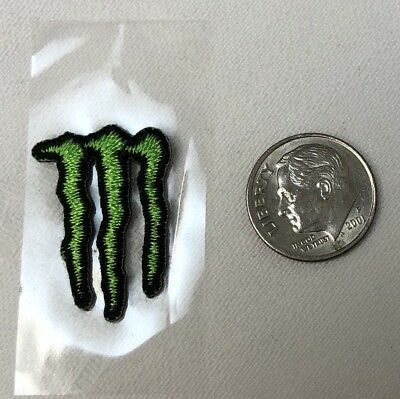 MONSTER ENERGY DRINK - Athlete Only - Stick-On PATCH - Green Logo 1""