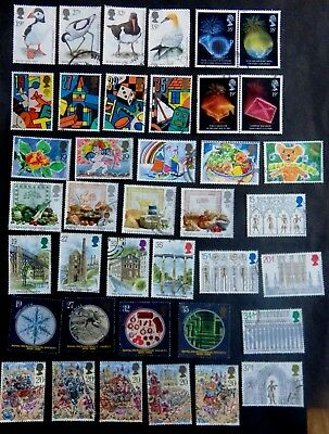 GB 1989 Commems Fine Used. Complete Year Stamps FU Bird Flowers Greetings