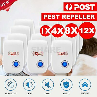 Ultrasonic Electronic Pest Mouse Cockroach Repeller Reject Insect Killer
