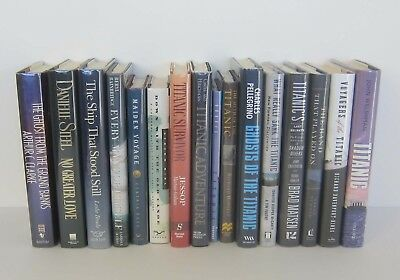 Set of 16 TITANIC Hardcover Books with Dust Jackets and Plastic Covers / Lot