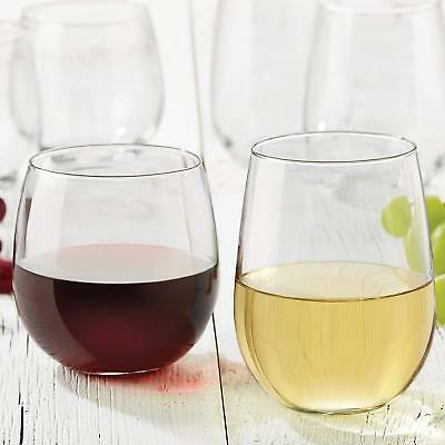 Libbey Vina Stemless Wine Gles For Red And White Wines Set Of 12 New